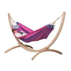 La Siesta Hamac simple Orquidea avec support Canoa
