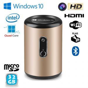 Yonis Mini PC TV Box Smart TV Média player WiFi 32Go Windows 10