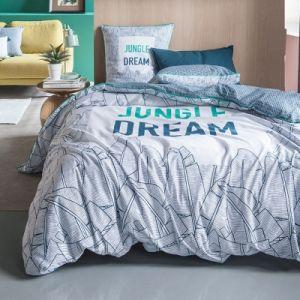Today TROPIK SUMMER Parure de lit Jungle Dream 100% coton - 1 Housse de couette 240 x 260 cm et 2 taies d'oreiller 63 x 63 cm - Vert