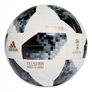 Adidas Ballon Coupe du Monde 2018 Telstar 18 Top Replique - Blanc/Noir/Argenté