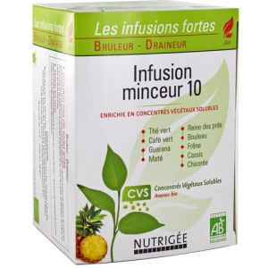 Nutrigée Infusions fortes bio minceur 10 - 30 sachets