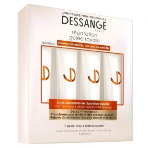 Jacques Dessange Soins concentrés de réparation durable, gelée royale restructurante (4 x 15 ml)