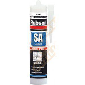 Rubson Mastic silicone sanitaire émail blanc - 300ml
