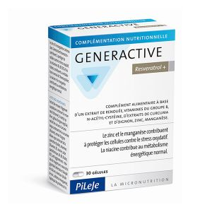 Pileje Generactive Resveratrol+ - 30 gélules