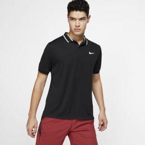 Nike Polo de tennis Court Dri-FIT pour Homme - Noir - Taille L - Male