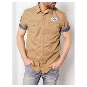 Petrol industries Chemise TOBAC Beige - Taille M