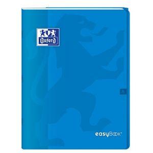 Oxford 400100048 EasyBook Cahier agrafé 24 x 32 cm 96 pages 90 g grands carreaux seyès Bleu