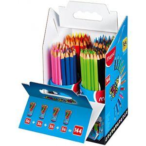 Maped Schoolpack de 144 Crayons couleur Color'peps assortis
