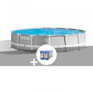 Intex Kit piscine tubulaire Prism Frame ronde 4,57 x 1,07 m + 6 cartouches de filtration