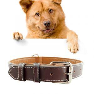 WeWoo Collier Chien Chat Café De En Cuir Pet Dog Big Dog, Taille: Xl, 3 * 60cm
