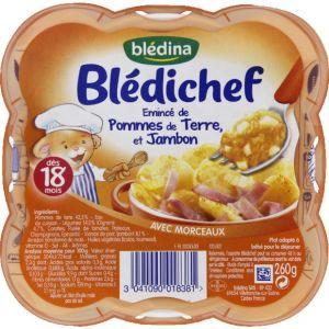 Blédina Blédichef Émincé de pommes de terre et de jambon 260 g - dès 18 mois
