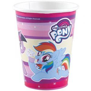 8 Gobelets en carton My Little Pony 250 ml