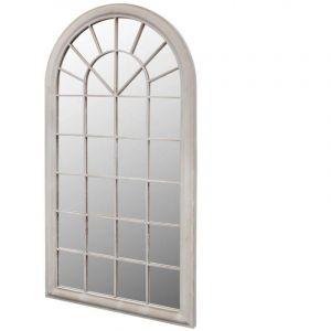 VidaXL Miroir de Jardin Arche rustique 116 x 60 cm Intérieur et Extérieur