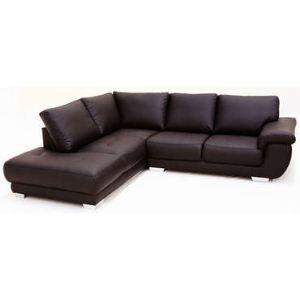 Canapé d'angle gauche fixe Galaxy 5 places