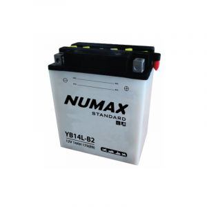 Numax Batterie moto Standard avec pack acide YB14L-B2 12V 14Ah 175A