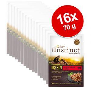 True instinct 8x70g dinde / légumes High Meat Fillets - Sachet pour Chat