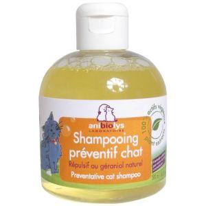 Anibiolys Shampooing préventif chat répulsif au géraniol naturel