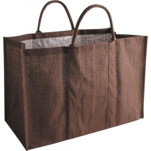 Sac porte bûches grand volume marron