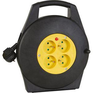 Dexlan 820110 - Enrouleur de câble avec 4 multi-prises et thermo-fusible 10 m
