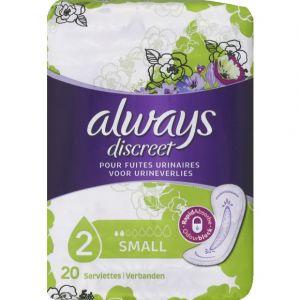 Always Serviettes hygiéniques pour fuites urinaires Small