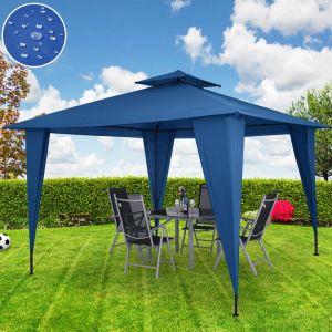 Deuba Tonnelle/Pavillon Sairee bleu tente de jardin réception 3,5m x 3,5m - 12,25m²