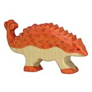 Holztiger Figurine dinosaure : Ankylosaure en bois