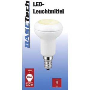 Basetech Ampoule à incandescence E14 1577741 forme conique 3.5 W = 40 W blanc chaud (Ø x L) 48.5 mm x 84 mm EEC: classe