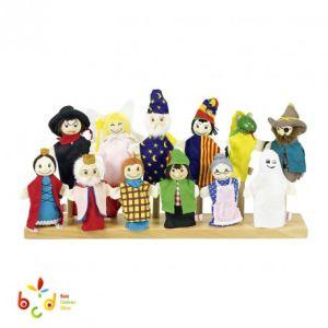 Goki SO 401 - Marionnettes à doigt avec tête en bois (12 modèles assortis)