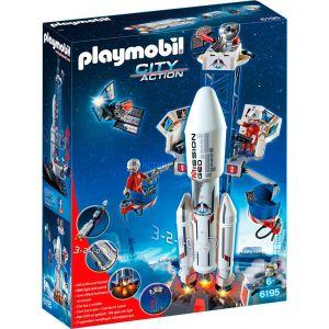 Image de Playmobil 6195 - Fusée spatiale avec la station de base