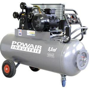 Powair Industrie TRE2320055TG - Compresseur mobile 200 litres 5.5 CV triphasé