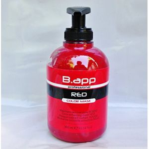 B.app Masque Professionnel Colorant , Vivifiant couleur rouge 300 ml