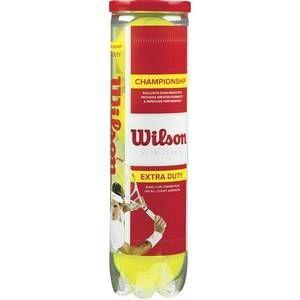 Wilson Balles de Tennis, Champ Extra Duty, Lot de 4 balles, Toutes Surfaces de Jeu, Jaune, WRT110000
