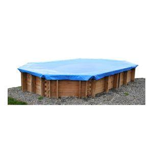 Sunbay 770419 - Bâche d'hivernage pour piscine ovale hors sol en bois Senja 8,24 x 4,28 m