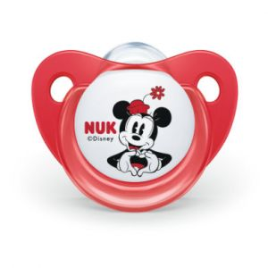 Nuk Soother Trendline Mickey & 90 Minnie ans silicone rouge / blanc 2 pièces Gr. 2,1