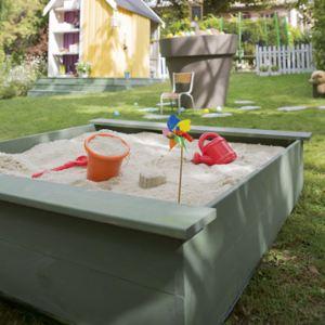 Soulet Bac à sable 118 x 118 x 25 cm + 2 bâches