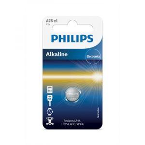 Philips 1 pile bouton 1,5V LR44 Alkaline