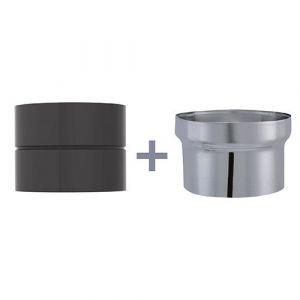 Isotip Joncoux Adaptateur pour raccordement D 125 noir mat cm