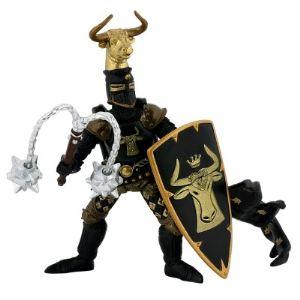 Papo Figurine Maître des armes cimier taureau noir et or