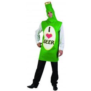 Déguisement bouteille de bière adulte
