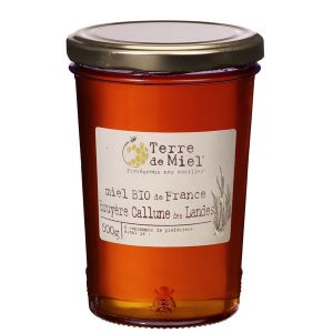 Terre de miel Miel de bruyère de Callune des Landes France 500g