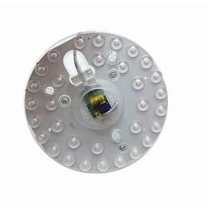 Silamp Tube LED T9 20W 220V 120 Plaque Circulaire Plafond Ø165 - couleur eclairage : Blanc Neutre 4000K - 5500K