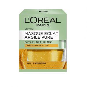 L'Oréal Masque Eclat Argile Pure 3 Argiles Pures + Yuzu 50ml