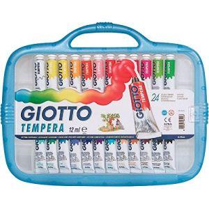 Giotto 24 tubes de gouache avec pinceau poney (12 ml)