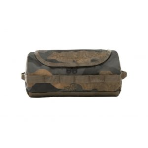 The North Face Base Camp Travel Canister S Burnt Olive Green Waxed Camo Print Trousse de toilette