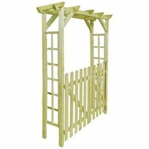 VidaXL Arche pour rosiers/porte de jardin bois imprégné 150 x 50 x 200 cm