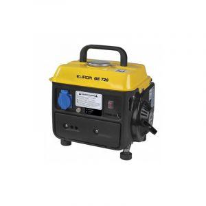 EUROM Groupe électrogène thermique 650W 1 x 230V moteur essence 2 temps 1600W - GE720 portable - 441611