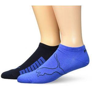 Puma Chaussettes -underwear Lifestyle Sneaker 2 Pack - Navy / Grey / Strong Blue - EU 39-42