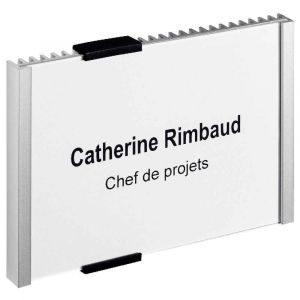 Durable 4801-23 - Plaque de porte CRYSTAL SIGN, (L)149 x (H)105 mm