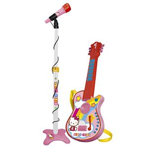 Guitare 6 cordes et micro Hello Kitty