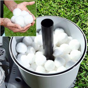 Bestway Pompe Sable 500g-Polysphère Piscine Filtration Balles à Filtre, Blanc